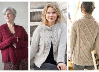 Women Cable Sweater Cardigan Free Knitting Patterns