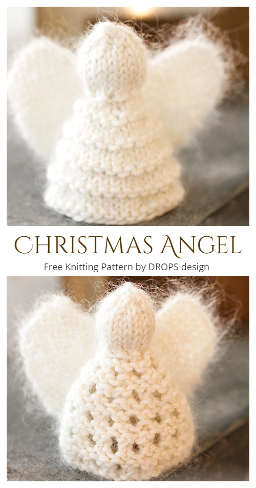 Christmas Angel Ornament Free Knitting Patterns