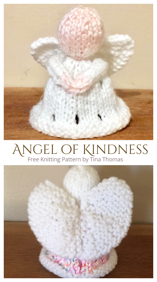 Christmas Angel of Kindness Ornament Free Knitting Patterns