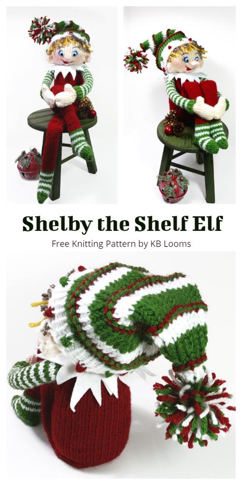 Shelby the Shelf Elf Free Knitting Patterns