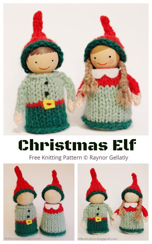 Amigurumi Christmas Elf Free Knitting Patterns