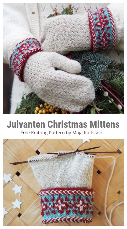 Julvanten Noel Eldivenleri Ücretsiz Örgü Desenleri