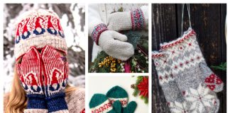 Christmas Mittens Free Knitting Patterns