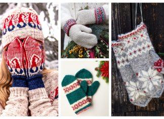 Christmas Mittens Free Knitting Patterns