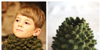 Knit Christmas Tree Cowl Free Knitting Pattern