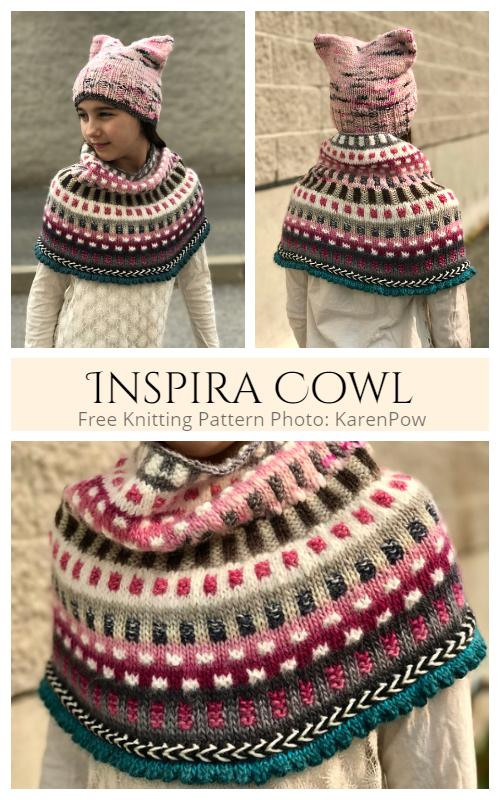 Inspira Cowl Free Knitting Pattern