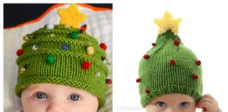 Knit Christmas Tree Hat Free Knitting Patterns