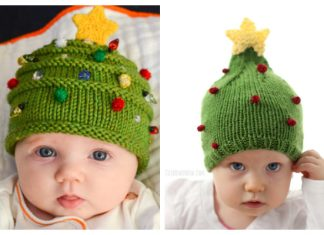 Knit Christmas Tree Hat Free Knitting Patterns