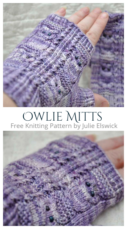 Knit Owlie Mitts Free Knitting Patterns