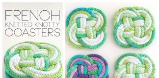 I-Cord Knotted Coaster Free Knitting Patterns