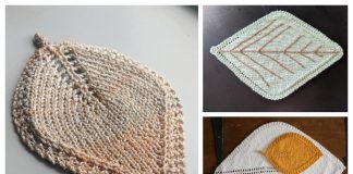 Leaf Placemat Free Knitting Patterns