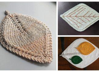 Leaf Placemat Free Knitting Patterns