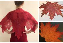 Maple Leaf Shawl Knitting Pattern
