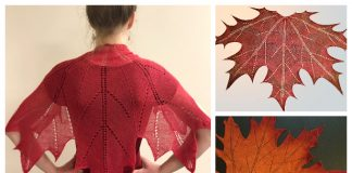 Maple Leaf Shawl Knitting Pattern