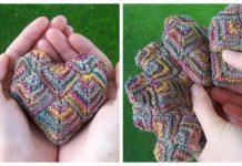 Knit Mitered Heart Sachet Free Knitting Pattern