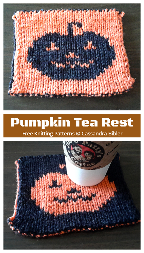 Pumpkin Tea Rest Free Knitting Patterns