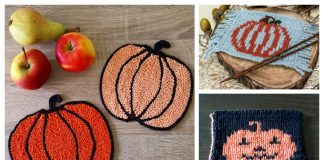 Pumpkin Coasters Free Knitting Patterns