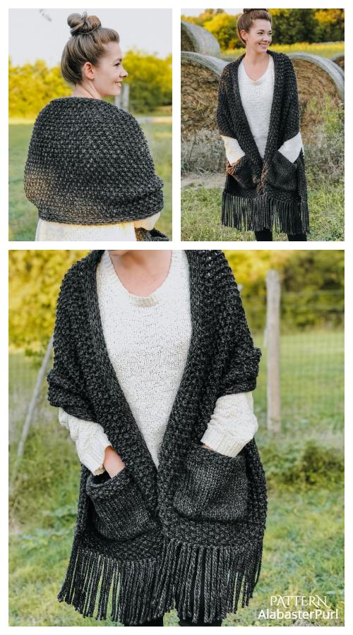 Hope Pocket Shawl Knitting Patterns