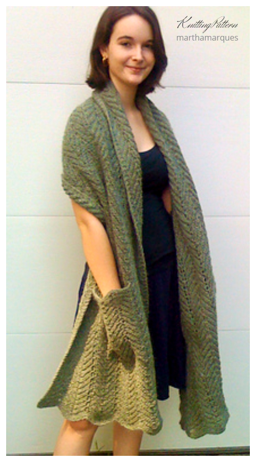 Shopping Pocket Shawl Knitting Patterns