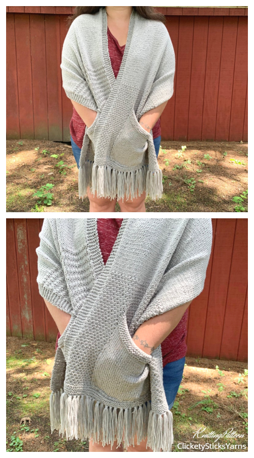 Wandering Woods Pocket Shawl Knitting Patterns