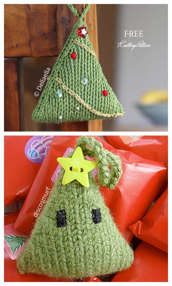 Christmas Tree Ornament Free Knitting Patterns