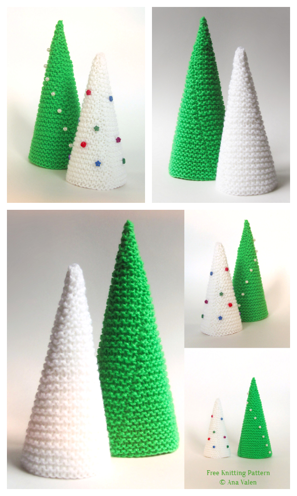 3D Christmas Tree Free Knitting Patterns