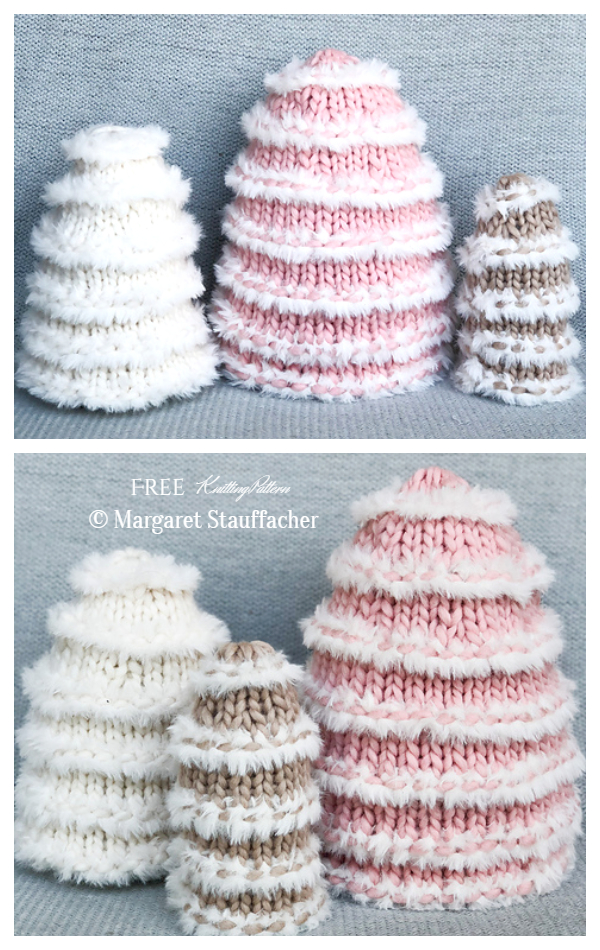 3D Christmas Snow Tree Free Knitting Patterns