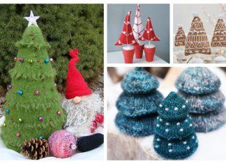 3D Christmas Tree Free Knitting Patterns