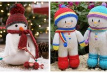Amigurumi Snowman Free Knitting Patterns