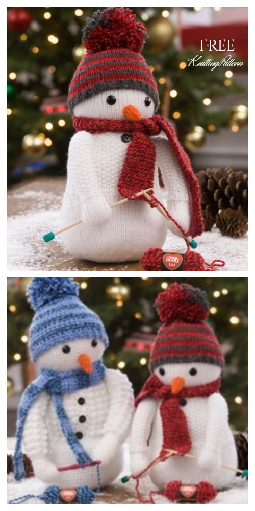Amigurumi Snowman Free Knitting Patterns