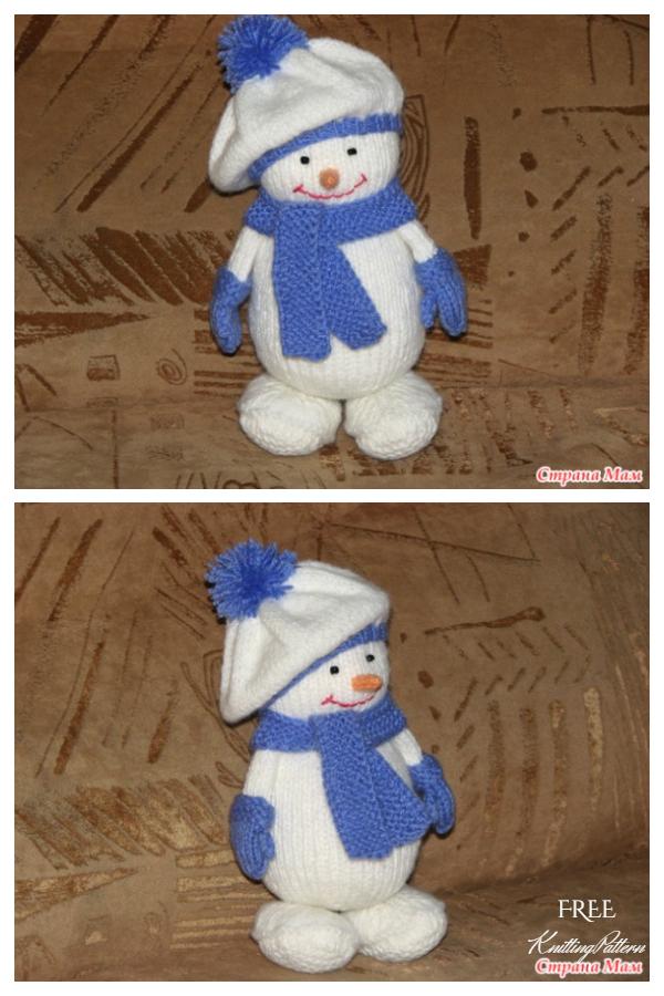 Amigurumi Snowman in Hat Free Knitting Patterns