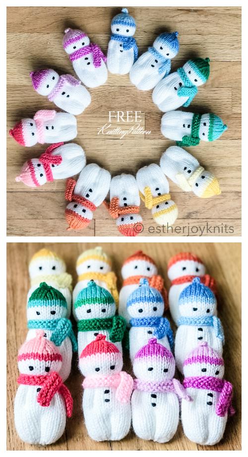 Amigurumi Mini Snowman Free Knitting Patterns
