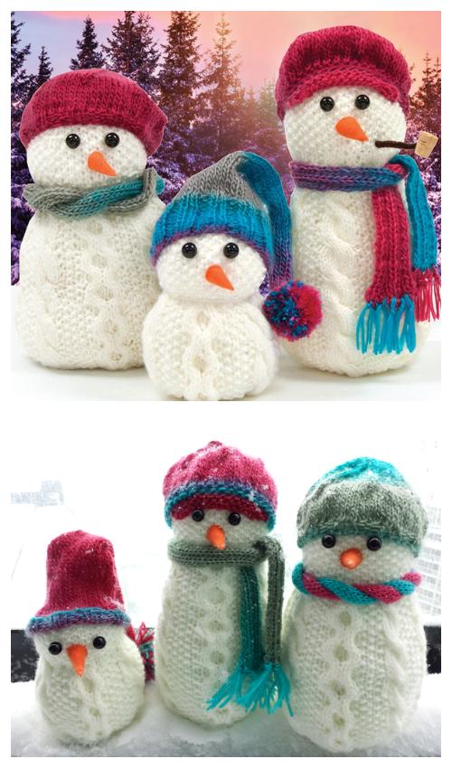 Amigurumi Aran Snow Family Free Knitting Patterns