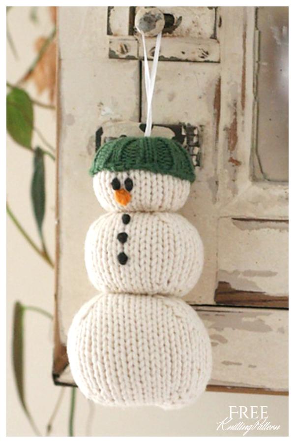 Amigurumi Parson Brown Snowman Free Knitting Patterns