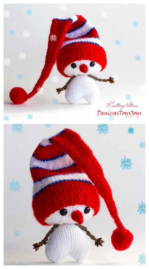Amigurumi Hearty Snowman Knitting Patterns