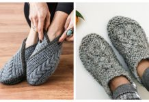 Cable Slippers Knitting Patterns
