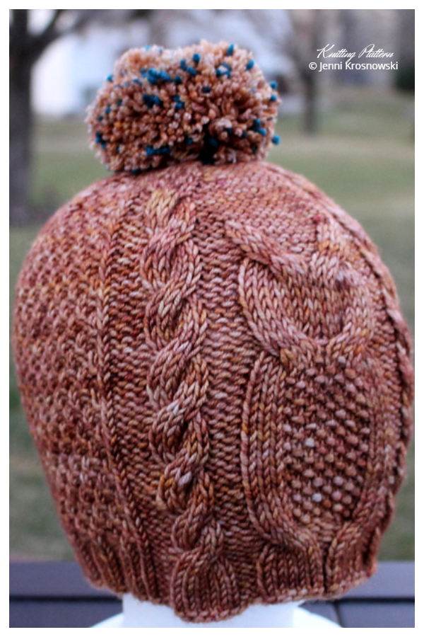 Cabled Labyrinth Owl Hat Knitting Patterns