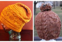 Cabled Owl Hat Free Knitting Patterns