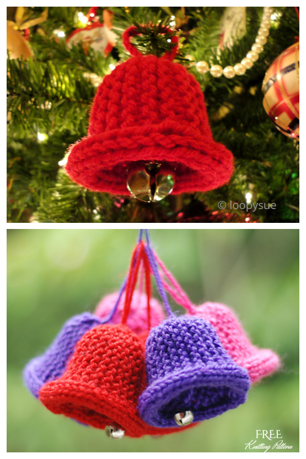 Christmas Bell or Ornament Free Knitting Patterns