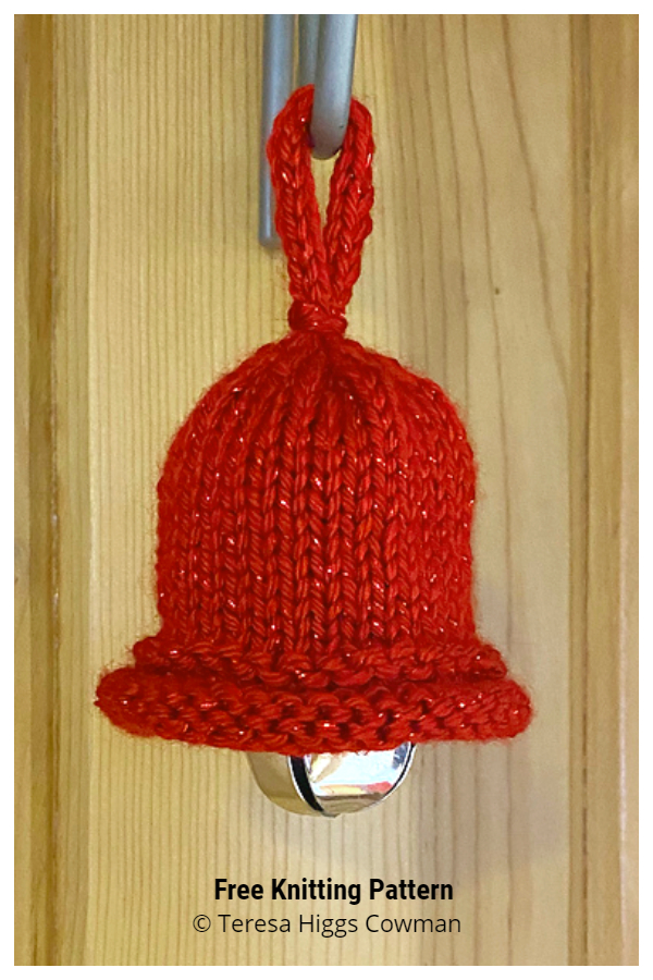 Ring in the Holidays Christmas Bell Ornament Free Knitting Patterns