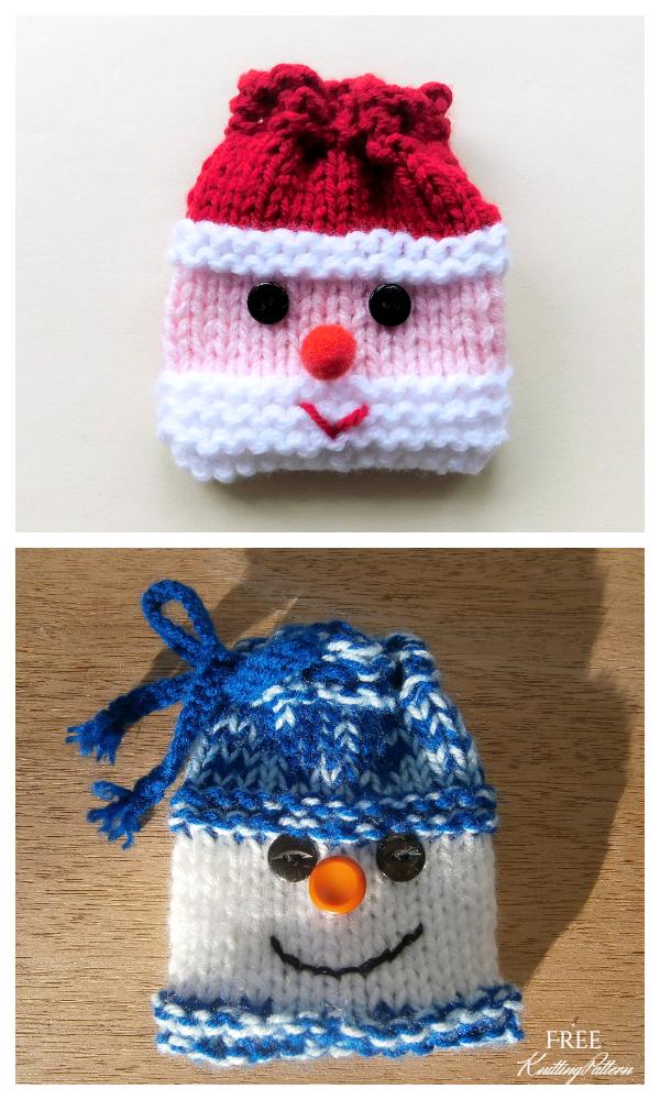 Knit Christmas Santa Sack Gift Bag Free Knitting Patterns