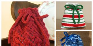 Knit Christmas Gift Bag Free Knitting Patterns