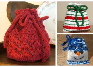 Knit Christmas Gift Bag Free Knitting Patterns