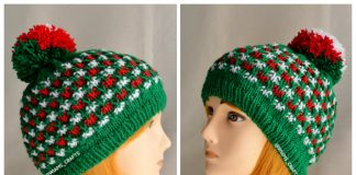 Knit Christmas Lights Hat Free Knitting Pattern