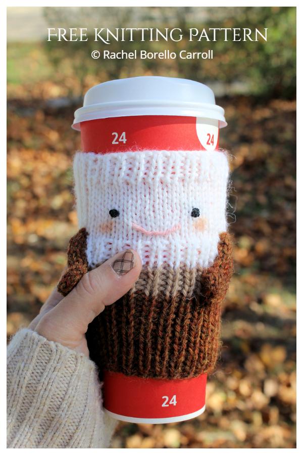 Christmas Cozy Coffee Buddy Ücretsiz Örgü Desenleri