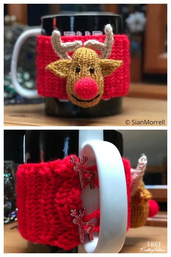 Noel Rudolph Ren Geyiği Kupası Rahat Ücretsiz Örgü Desenleri