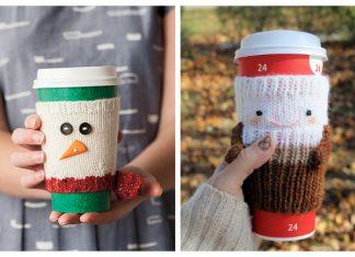 Christmas Mug Cozy Free Knitting Patterns