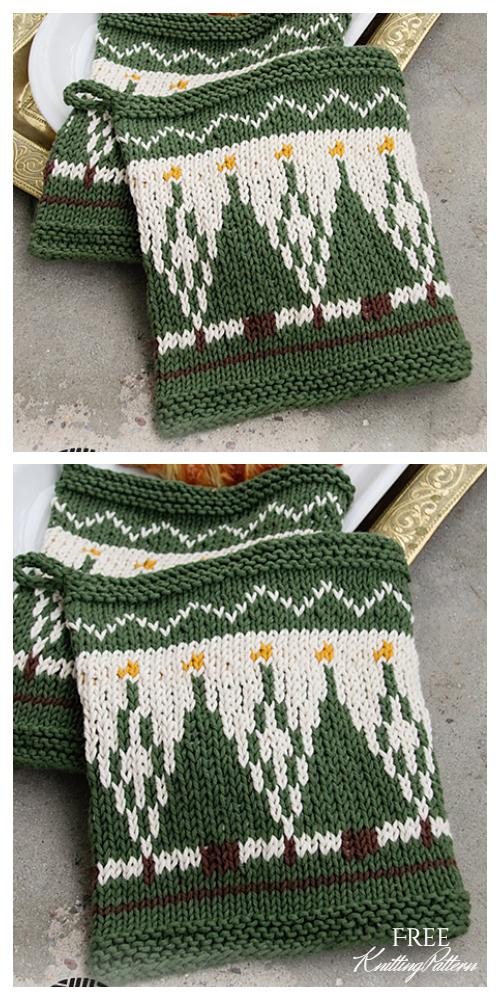 Breakfast Joy Christmas Potholder Free Knitting Patterns