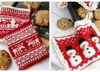 Knit Christmas Potholder Free Knitting Patterns