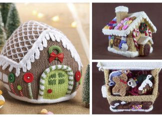 Knit Gingerbread House Free Knitting Patterns